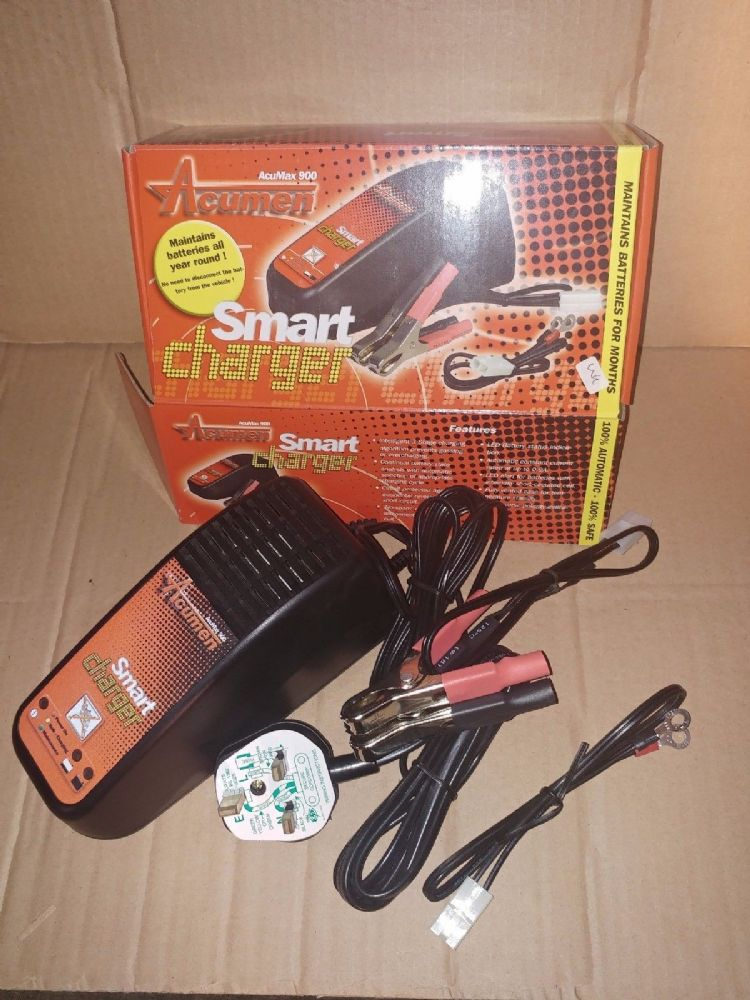 Acumen smart charger acumax 900 battery charger 900mA 12v